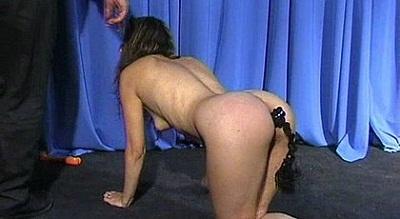 Fetish slave girl treated like a dog