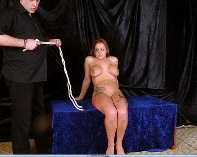 Busty UK slave girl Gina In Needle Fetish